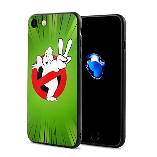 Cheny Phone Cover Ghostbusters Logo for iPhone 7/8,Full Protective,Anti-Scratch Back Black,Drop Protection,Cushion -