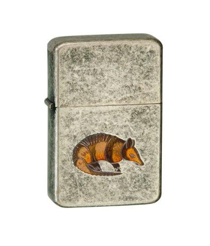 Vector-KGM-Thunderbird-Emblem-Vintage-Chrome-Lighter-Animal-Small-Mammals-Armadillo
