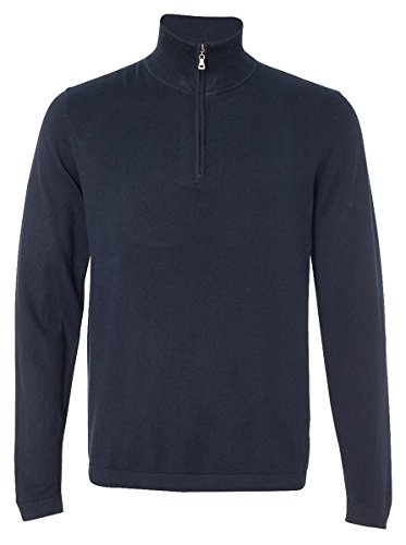 Weatherproof 151391 Men's Vintage Cotton Cashmere Quarter-Zip Sweater Ink (Cashmere Vintage Sweater)