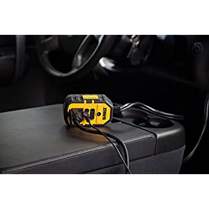DEWALT DXAEPI140 140W Power Inverter: 12V DC to 120V AC Power Outlet with Dual USB Ports