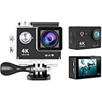 iHome Fusion Waterproof Action Sport Camera H9 Wifi Waterproof Camera Camcorder 4K Ultra HD 2 LCD Screen + Free 62GB Micro SD Card