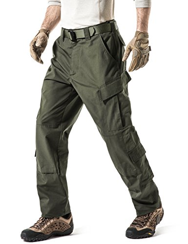 CQR CQ-UAP02-GRN_Small(W28-32)-Short Men's ACU Rip Stop Trouser EDC Tactical Combat Pants UAP02