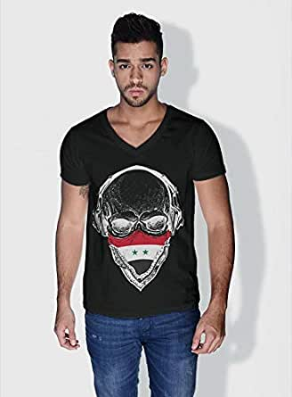 Creo Syria Skull T-Shirts For Men - S, Black