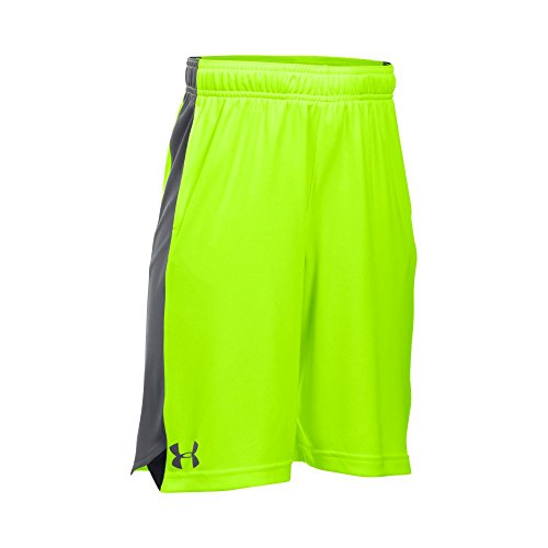 Under Armour Boys' Eliminator Shorts, Fuel Green/Graphite, Youth (Eliminator Fuel System)