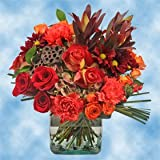 GlobalRose Fall Vase Flower Bouquet