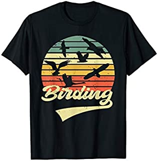 Birding Birdwatching Vintage Retro  Bird Watcher gift T-shirt | Size S - 5XL