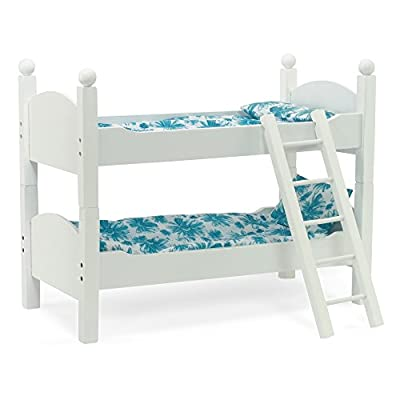 "White Bunk Bed Doll Furniture | Fits 18"" Inch American Girl Dolls 