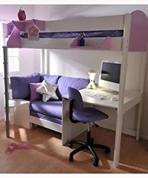 Amazon.de: Stompa 2A Casa Hochbett mit Schreibtisch Bett ...
