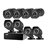SHO 8 Pack Full HD 1080P Outdoor sPoE Security Camera w/8CH sPoE Repeater for Power & Data Transmission, Remote Monitoring (NVR not Included)-[Free 6-Month Cloud Service for Recording]