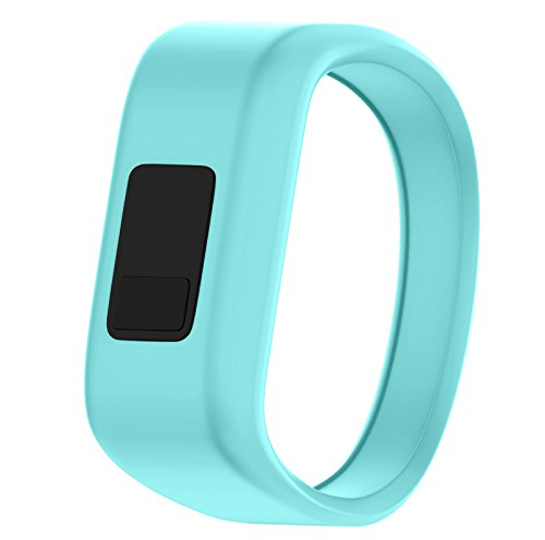 QGHXO Band for Garmin Vivofit Jr/Vivofit Jr. 2, Soft Silicone Replacement Watch Band Strap for Garmin Vivofit Jr/Vivofit Jr. 2 Activity Tracker, Small, Large (Teal, Small: 5.7)