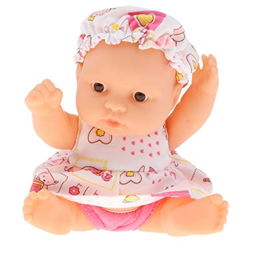 B Blesiya 5 Inch Adorable Soft Body Infant Baby Doll Toy with Removable Clothing and Movable Joint for Kids Toddler, Style Random