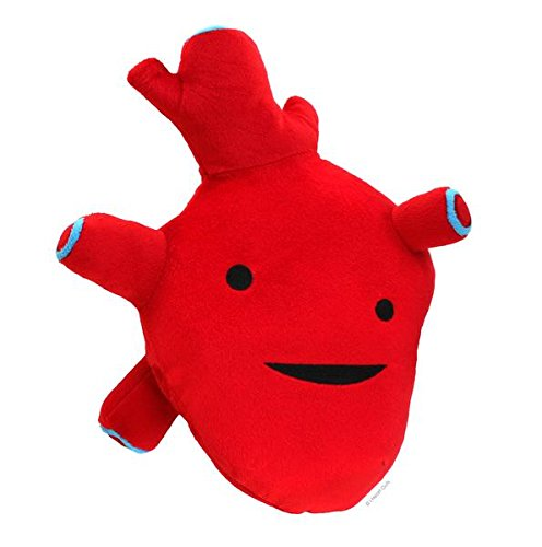 Heart plush toy figure