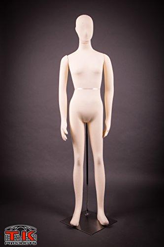 Female Mannequin, Flexible Posable Bendable Full-size Sof...