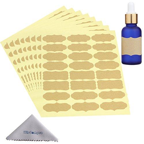 Wisdompro Fancy Shape Stickers Labels for Essential Oil Bottle and Food Jars - 8 Sheet (192Pcs) - Large ()