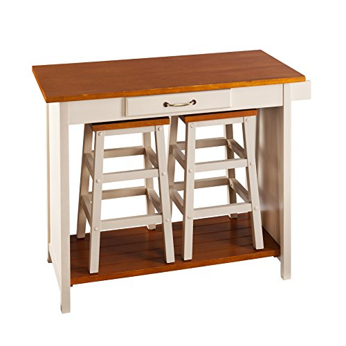 SEI Three Piece Nantucket Breakfast Set (Southern Enterprises Kitchen Bar Stool)