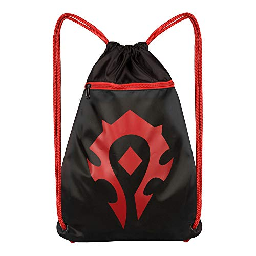 JINX World of Warcraft Horde Loot Bag, 14×19″, Drawstring Cinch Backpack