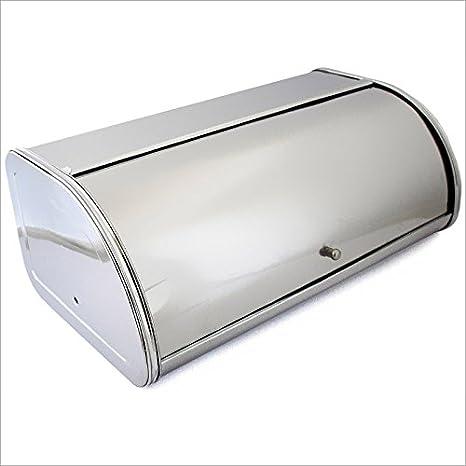 Panera caja pan acero inoxidable - Brillante, formas ...