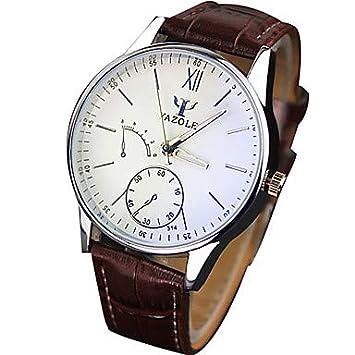 XKC-watches Relojes para Hombres, Hombre Reloj de Pulsera Cuarzo/PU Banda Cool