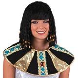 Perruque de Cléopâtre avec robe égyptienne de tresses