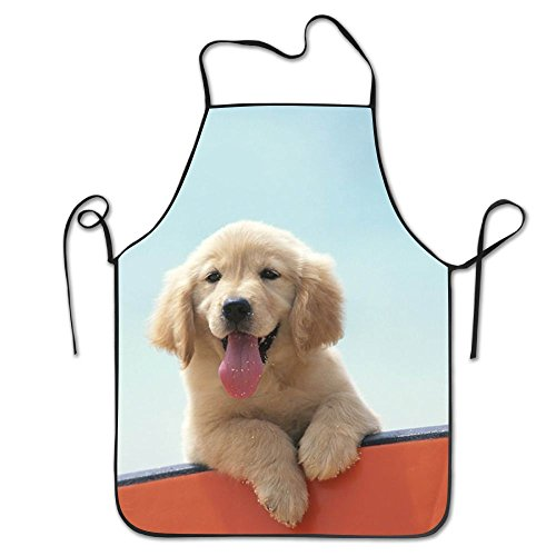 BOBIMU Baby Golden Retriever Kitchen Apron Part Cosplay Cooking Baking Garden Chef Restaurant BBQ Sexy Hanging Neck Apron For Women