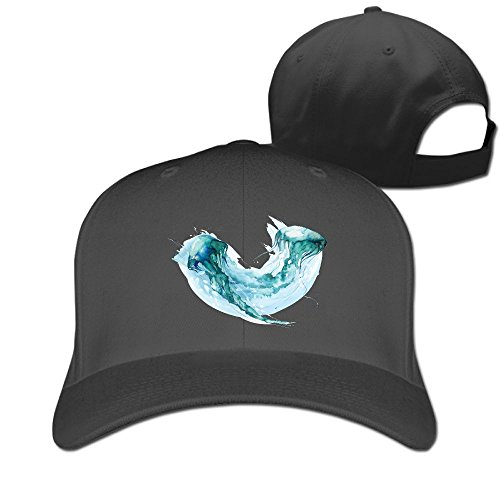 Green Jelly Fish Unisex Casual Travel Hat & Cap Black