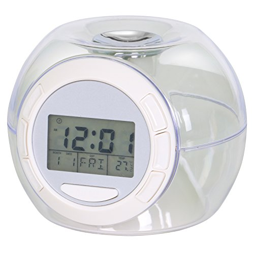 TRIXES Colour Changing Digital Alarm Clock with 7 Colour LED and 6 Nature and Countryside ()