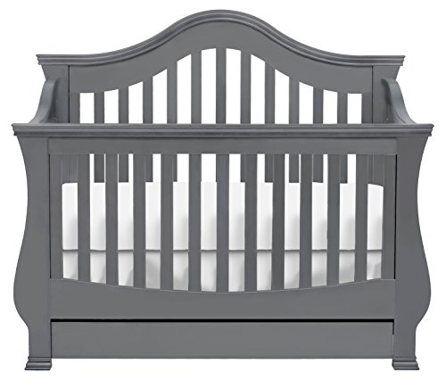 Million Dollar Baby Classic Ashbury 4-in-1 Convertible Crib with Toddler Bed Conversion Kit, Manor Grey by Million Dollar Baby Classic (Image #5)