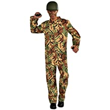 Forum Novelties Men's Combat Hero Army Jumpsuit Costume, Camouflage, One Size