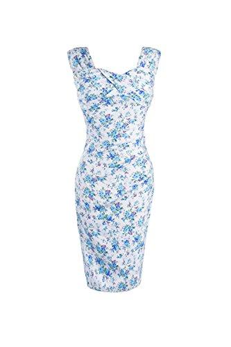 Des années 1940 Vintage femmes imprimé robe Bodycon