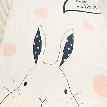 algod/ón suave, 130 x 70 cm S/ábana bajera para cuna dise/ño unisex Conejito Tiny Alpaca