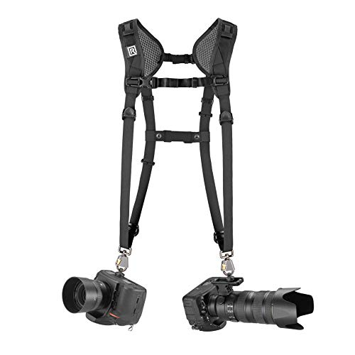 BlackRapid Breathe Double Slim Camera Harness, 2pcs of Safety tethers Included