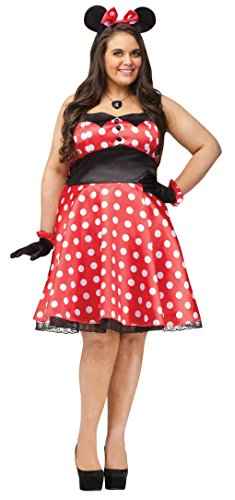 Retro Miss Mouse Costumes (Retro Miss Mouse Adult Costume (Plus))