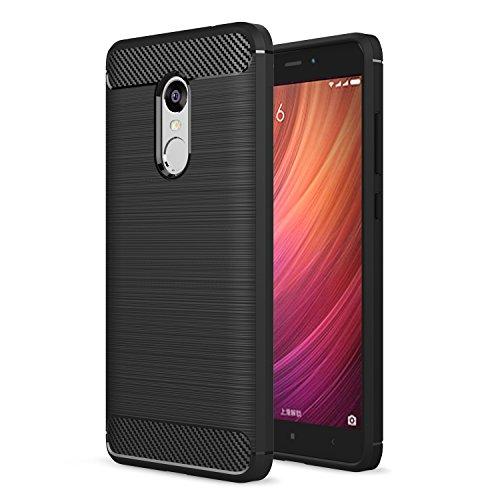Funda Xiaomi Redmi Note 4/Xiaomi Redmi Note 4X,ivencase Negro Silicona Fundas Carcasa Fibra de Carbono Funda case para Xiaomi...