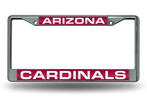(Rico Industries NFL Arizona Cardinals Standard Chrome License Plate Frame)