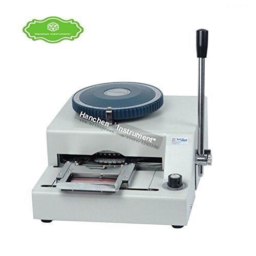 Hanchen Instrument Manual Name Code Printer PVC Card Embossing Letterpress Rotogravure Printing Machine by Hanchen Instrument®