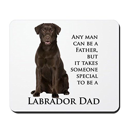 CafePress - Chocolate Lab Dad - Non-Slip Rubber Mousepad, Gaming Mouse Pad