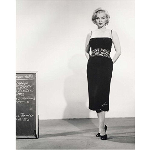 Marilyn Monroe Continuity Test Shot Standing in Black Dress 8 x 10 Inch Photo (Marilyn Monroe The Prince And The Showgirl Dress)