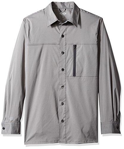 Dickies Men's Zip Pocket Wicking Shirt, Smoke, 2X (Zip Pocket Button)