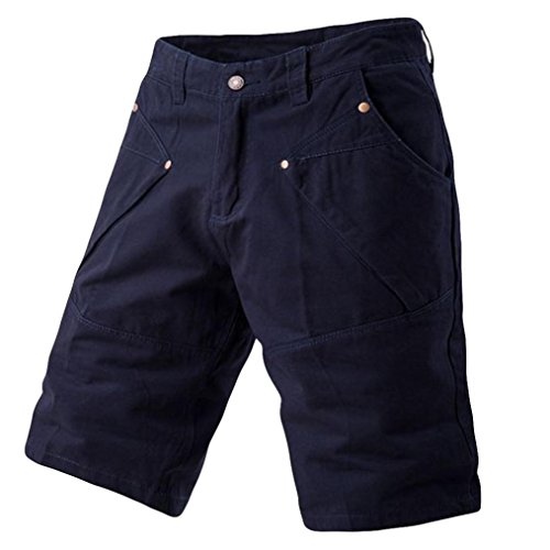 PASATO 2018 New Hot! Fashion Mens Casual Pocket Beach Work Casual Short Trouser, Classic Shorts Pants(Navy, 36) by PASATO