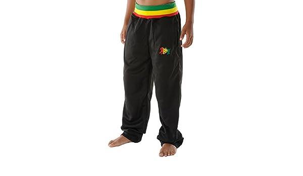 rasta4real NINOS - RASTA Jamaica LEON DE JUDAH Negro PANTALONES ...