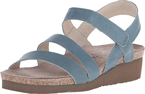 - NAOT Footwear Women's Kayla Sandal Sea Green Leather 6 M US