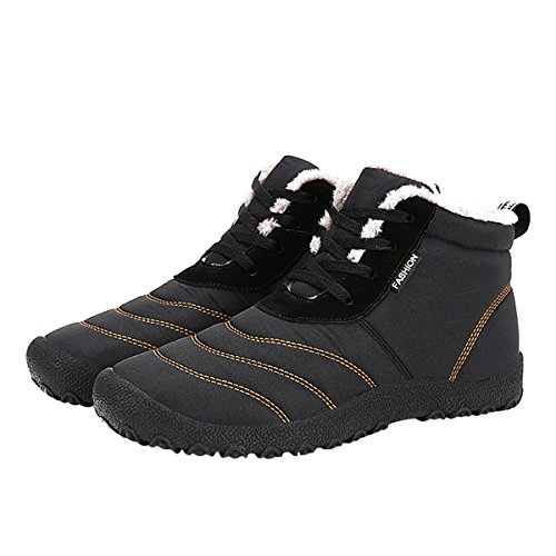 Sneakers Black up Lace Outdoor Waterproof Shoes Unisex Boots Snow Ankle Winter VFDB PcqvFZRU