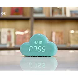 SX-CEHNG Nightlight Wake Up Alarm Clock Creative LED Night Light Bedroom Simple Fashion Smart Electronic Lazy Clock Bedside Lamp