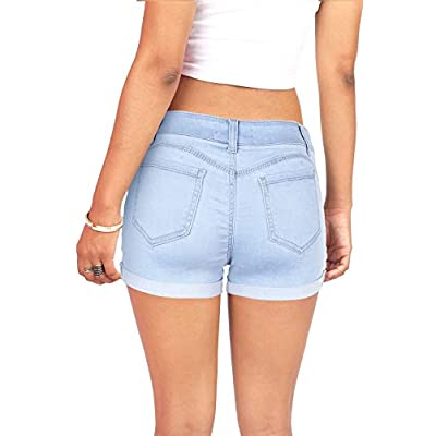 Wax Women's Juniors Mid-Rise Denim Shorts at Women's Clothing store
