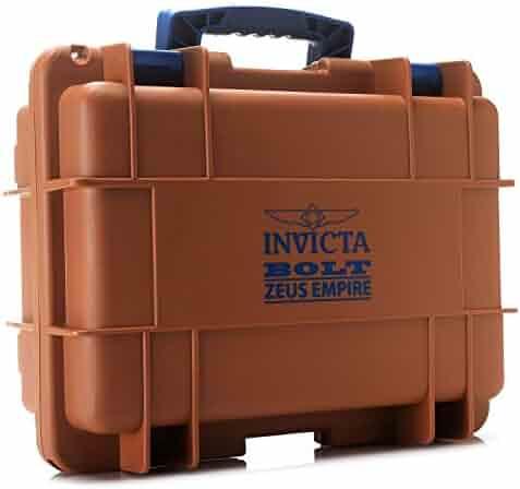 Invicta DC8BRN Bolt Zeus Empire 8 Slot Impact Resistant Diver's Watch Collector Case (Brown & Blue)