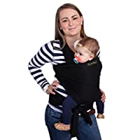 CuddleBug Baby Wrap Carrier | SLEEP DEEPER | CUDDLE MORE | FUSS LESS (Black)