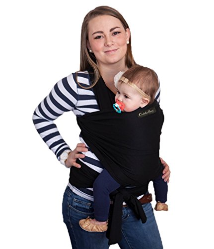 Baby Wrap - Ergo Baby Carrier by CuddleBug - Available in 9 Colors - Baby Sling, Baby Wrap Carrier, Nursing Cover and Baby Slings and Wraps for Infants and Newborn ()