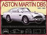 james bond vintage - FRENCH VINTAGE METAL SIGN 20x30cm ASTON MARTIN 1963 DB5 JAMES BOND