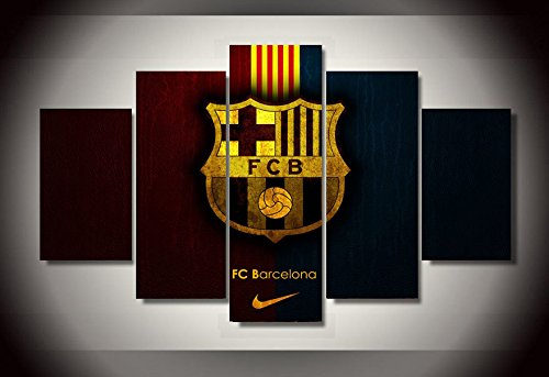 Barcelona fc wall poster picture print canvas 5 pieces