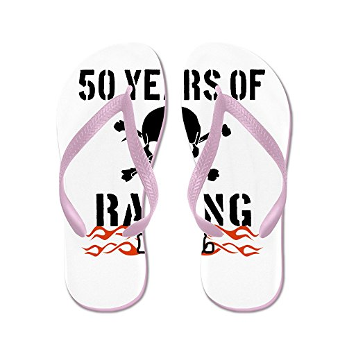 CafePress 50 Years Of Raising Hell - Flip Flops, Funny Thong Sandals, Beach Sandals Pink